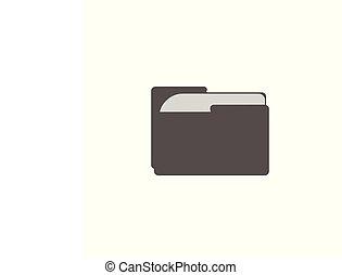 Vector folder icon closeup isolated. Data storage
