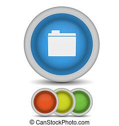 Vector folder icon on white. Eps10