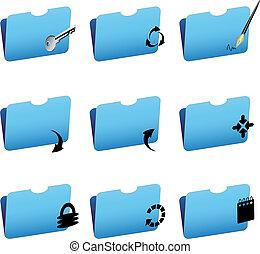 Vector folder icons