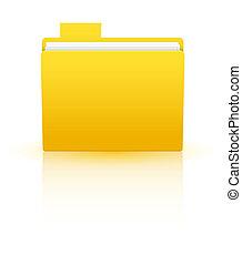 Vector folder isolated on white