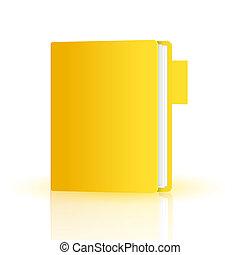 Vector folder isolated on white. Eps10
