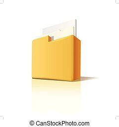 Vector folder with documents