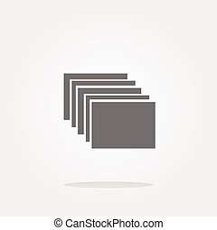 vector folders on web icon, button isolated on white