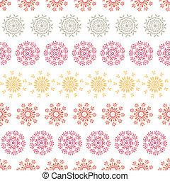 vector folk floral circles abstract stripes seamless pattern background