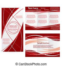 vector, folleto, disposición, diseño, plantilla