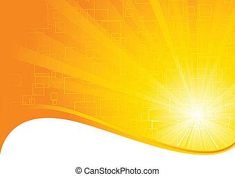 vector, fondo anaranjado
