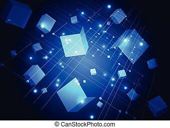 vector, fondo., ilustración digital, resumen, tecnología, futurista