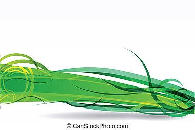 vector, fondo verde