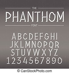 Vector Font with Shadow