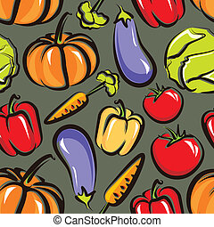 vector food background with vegetables. seamless pattern