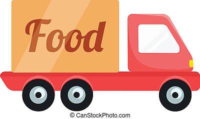 Vector Food Delivery Car Icon