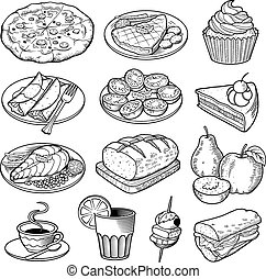 Vector Food Illustrations. Thirteen great quality vector ...