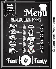 Vector Food Menu Poster Design