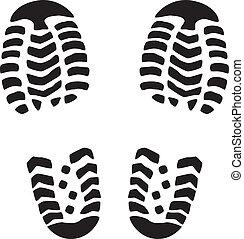 vector foot prints - vector illustration of man's foot...