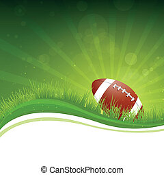Vector Football Background - Vector Illustration of a...