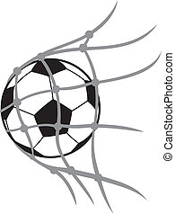 vector football ball (soccer ball, soccer ball for football, soccer ball in net, football icon, football goal, soccer goal)