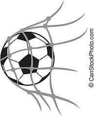 football ball - vector football ball (soccer ball, soccer...