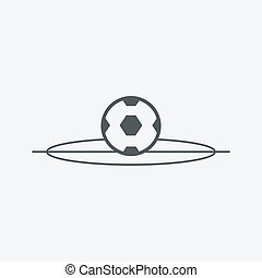 vector football ball (soccer)