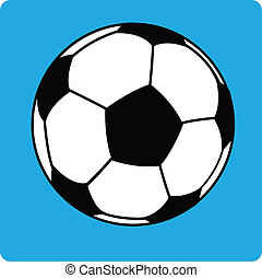 vector football ball (soccer) on bl