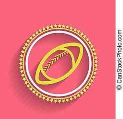 Vector football icon ball flat design