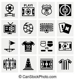 Vector Football icon set