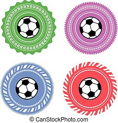 vector football label set