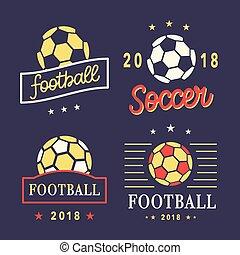 Vector Football Logo Template Set