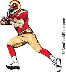 Vector - Football Player Runningbac