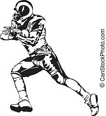 Vector - Football Player Runningback Cartoon