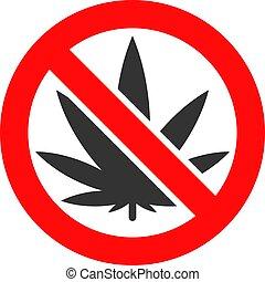 Vector Forbidden Cannabis Icon