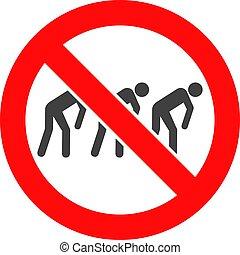 Vector Forbidden Slavery Icon - Forbidden slavery vector...