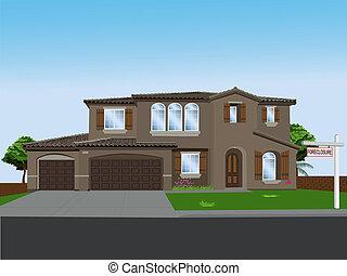 Vector Foreclosure - Foreclosed dream home ( dreams...