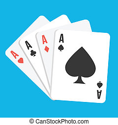 Vector Four Aces Playing Cards Icon
