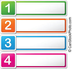Vector illustration of four colorful banners on white background