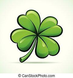 Vector four leaf clover design - Vector illustration of four...