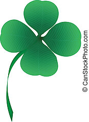 Vector four leaf clover
