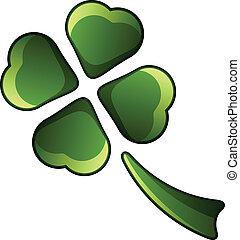 vector four leaf shiny clover