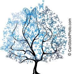 Vector - four seasons tree