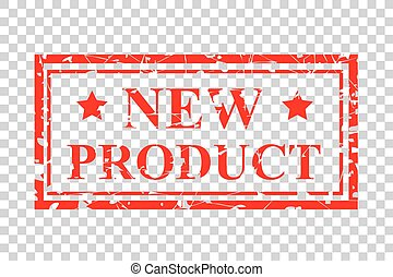 four style red rubber stamp, new product, at transparent effect background