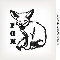 Vector fox black logo icon