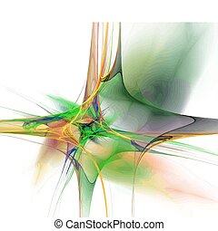 Vector fractal - Vector Illustration of digital fractal