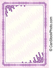 vector frame and border with pink volume levels for diploma, certificate