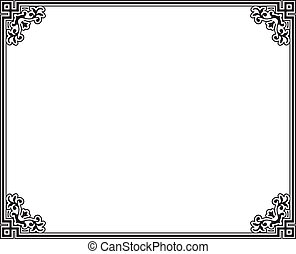 Vector frame - black and white decorative vector frame