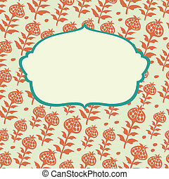 vector frame decorative flowers 2