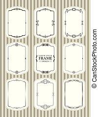 Vector Frame design decorate element set 1