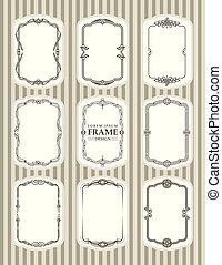 Vector Frame design decorate element set 2