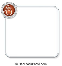 vector frame for any text with mouse icon