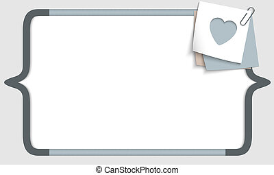 vector frame for any text with square brackets and heart