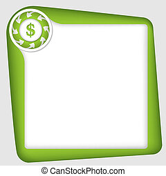 vector frame for inserting text with dollar sign