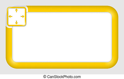 vector frame for text insertion with arrows